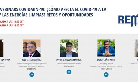REALIZARÁN WEBINARS SIMPOSIO SOBRE LOS EFECTOS DEL COVID-19 EN LA MINERÍA Y ENERGÍAS LIMPIAS
