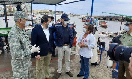 APLICAN MEDIDAS ESPECIALES PARA PREVENIR CONTAGIOS EN TERMINAL PESQUERO
