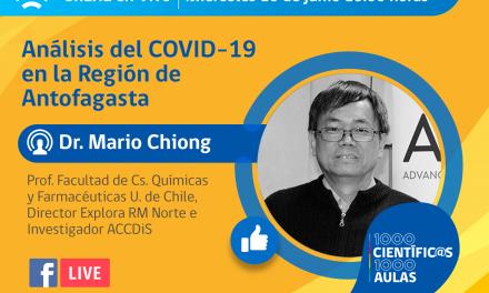 CHARLA ONLINE ABORDARÁ LA SITUACIÓN ACTUAL DEL COVID-19 EN LA REGIÓN DE ANTOFAGASTA