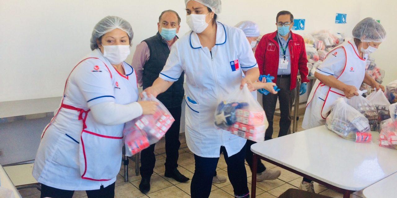 Quinta entrega de Junaeb repartirá más de 44 mil canastas de alimentos en la región