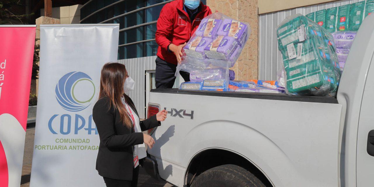 Comunidad Portuaria entrega más de 5 mil pañales para familias vulnerables de la región