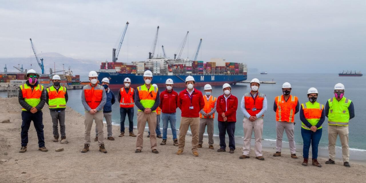 Autoridades revisan medidas preventivas en Puerto Angamos en el marco del plan Paso a Paso Laboral
