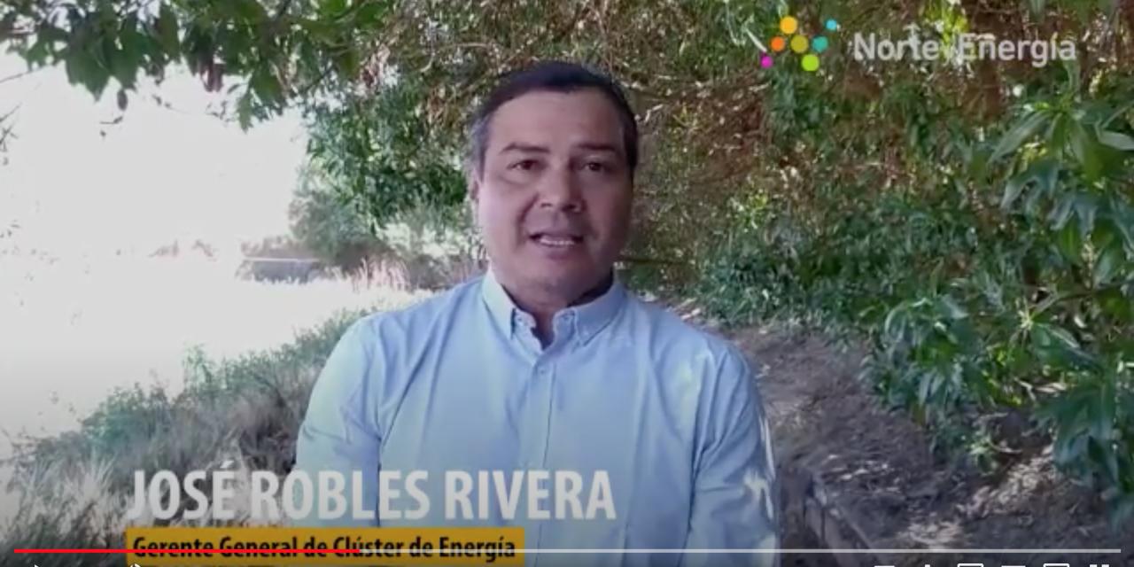 Saludo José Robles, gerente general Clúster Energía