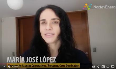 Saludo María José López,  directora Asuntos Corporativos / Personas, Cerro Dominador