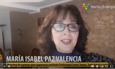 Saludo María Isabel Paz, directora carrera Ingeniería Instituto Profesional Santo Tomás, Antofagasta