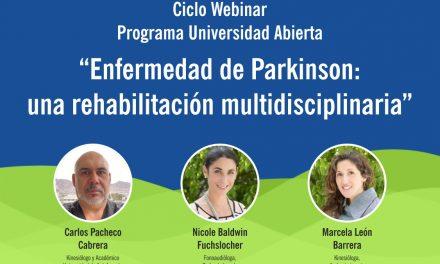 """Webinar """"Enfermedad de Parkinson: una rehabilitación multidisciplinaria"""" 03 noviembre 15:30 hrs"""
