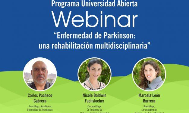 """Webinar: """"Enfermedad de Parkinson: una rehabilitación multidisciplinaria"""" 03 Nov, 15:30 horas"""