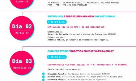Ministerio de Educación y la Fundación País Digital presentan primera versión de Robotic Fest para visibilizar la robótica educativa y su impacto en el país