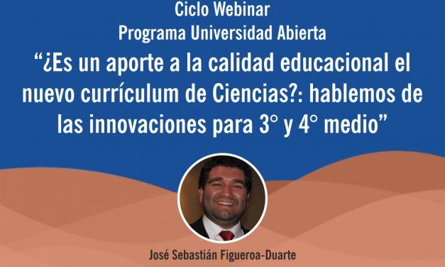 Webinar: ¿Es un aporte a la calidad educacional el nuevo currículum de Ciencias?, 20 Nov 16:30 hrs