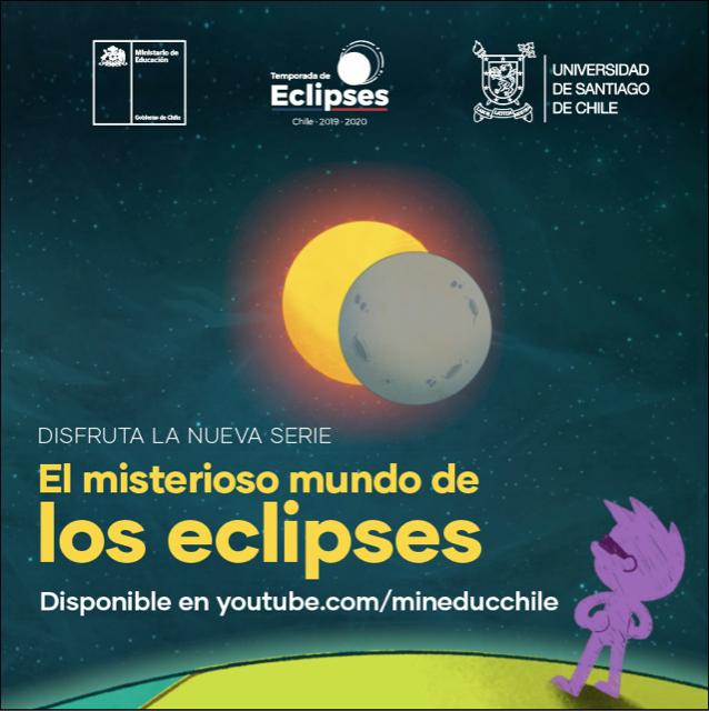 Ministerio de Educación estrena serie educativa sobre eclipses solares