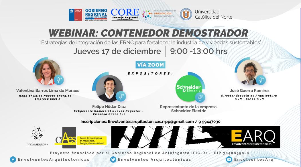 Exponentes nacionales e internacionales participarán de webinar sobre Energías Renovables en la Región de Antofagasta