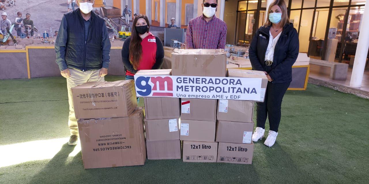 Generadora Metropolitana entregó kits sanitarios a municipio de María Elena