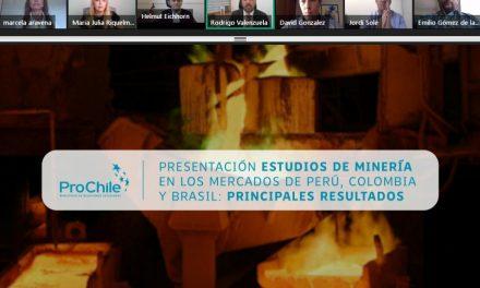 PROCHILE DA A CONOCER ESTUDIOS DE MERCADO PARA FACILITAR LA LLEGADA DE PROVEEDORES MINEROS A PERÚ, BRASIL Y COLOMBIA