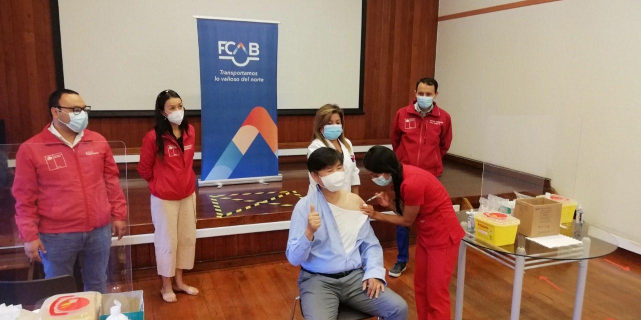 Trabajadores de los servicios básicos de la energía y combustible comenzaron a recibir primera dosis de la vacuna contra el Covid-19