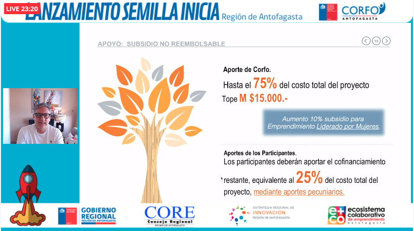 Comité Corfo Antofagasta abre concurso Semilla Inicia para emprendedores y emprendedoras