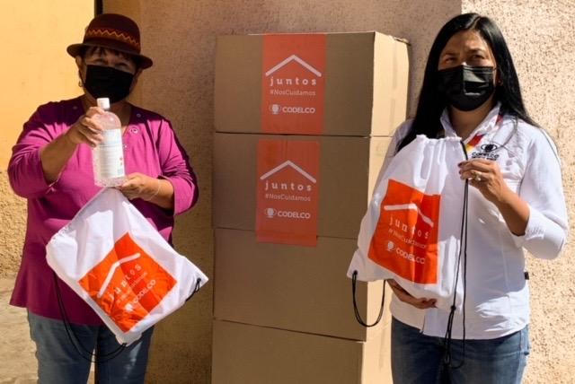 Codelco ha entregado más de 7 mil kits para apoyar e incentivar el autocuidado entre las y los vecinos de Calama