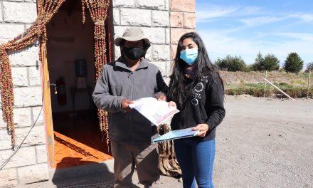 Con respaldo UCN aplican encuestas de percepción de riesgo volcánico a comunidades altiplánicas