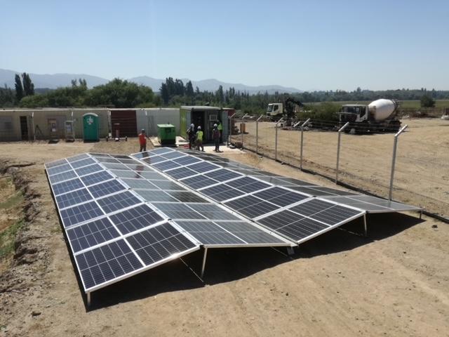 ACCIONA INSTALA EN CHILE UNIDAD FOTOVOLTAICA MÓVIL COMO FUENTE DE ENERGÍA SOSTENIBLE EN LA CONSTRUCCIÓN DE LA NUEVA  CÁRCEL DE TALCA