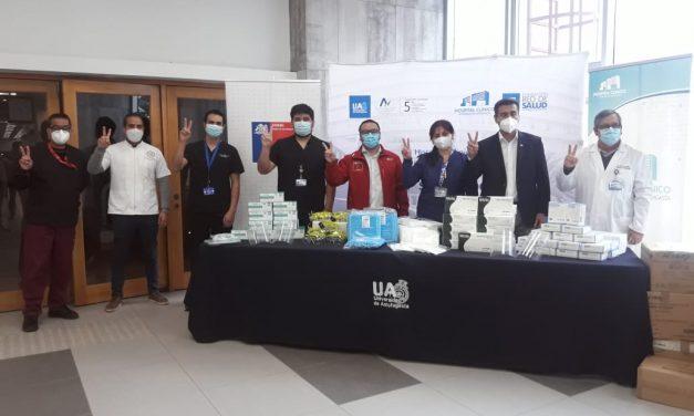 Gracias a Mesa Salvemos Vida Cerro Dominador donó elementos de protección personal para Hospital Clínico de la Universidad de Antofagasta