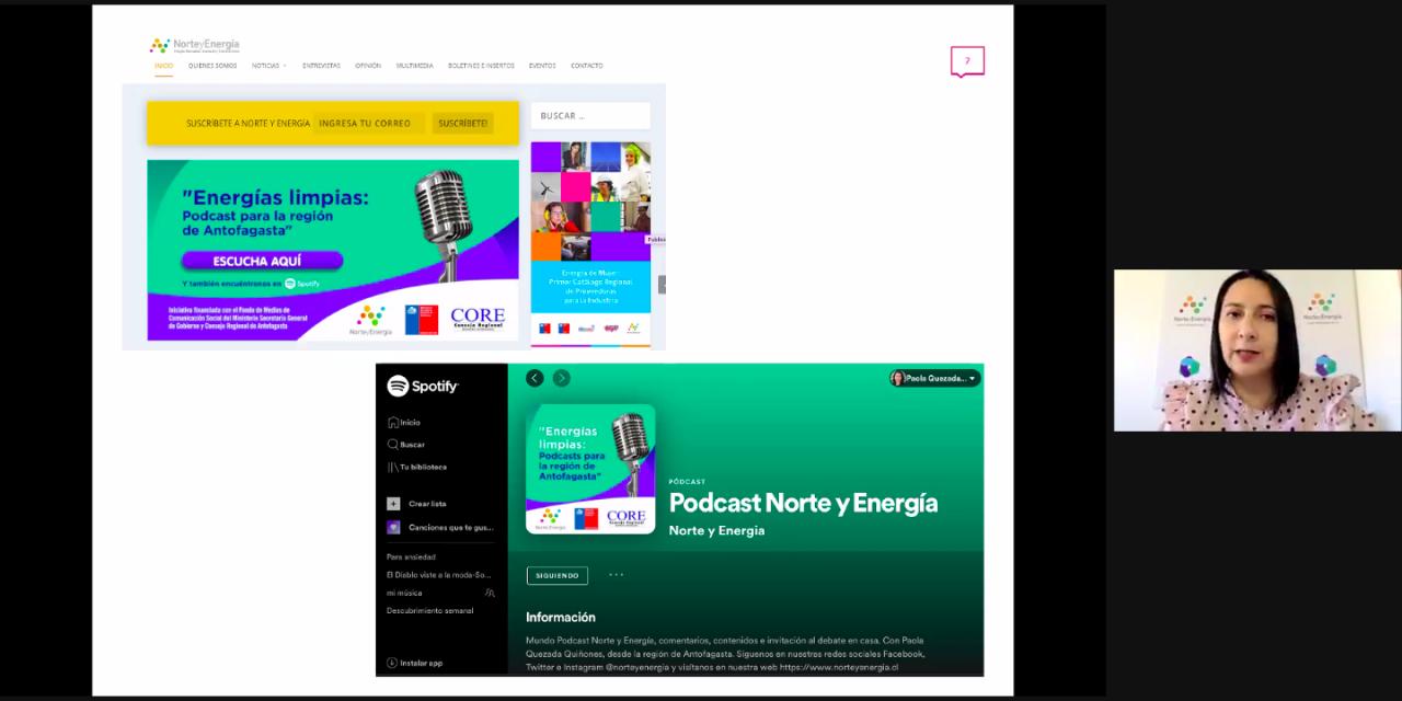 Revista online Norte y Energía lanza su nuevo programa de Podcast en el marco del fondo de medios de Ministerio Secretaría General de Gobierno 2021