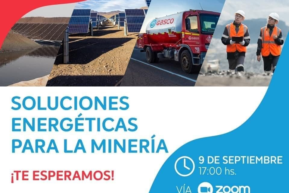 Webinar Soluciones energéticas para la minería: Modelos innovadoras para la industria, 09 de septiembre, 17.00 hrs
