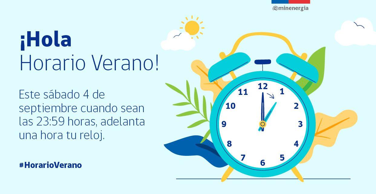 Horario de verano comienza a regir la media noche de este sábado 04 de septiembre