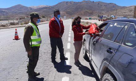 Autoridades e instituciones de la Región de Arica y Parinacota realizaron operativo para un turismo seguro en fiestas patrias