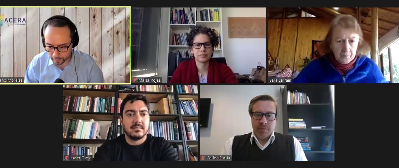 La discusión sobre la Transición Energética de Chile se toma el Ciclo de Webinars ACERA