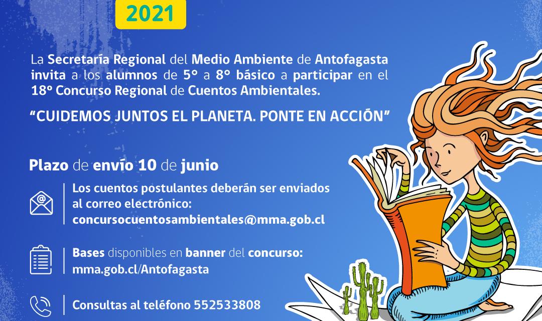 Seremi del Medio Ambiente anuncia a los ganadores del 18° Concurso Regional de Cuentos Ambientales de la región de Antofagasta